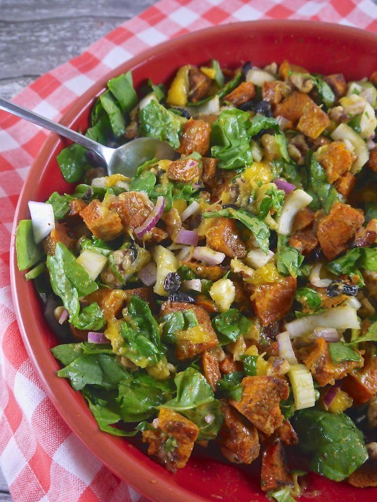 Roasted Sweet Potato Salad With Chutney Vinaigrette Recipe ...