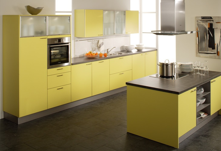 gelbe k che yellow kitchens beautiful kitchens pinterest