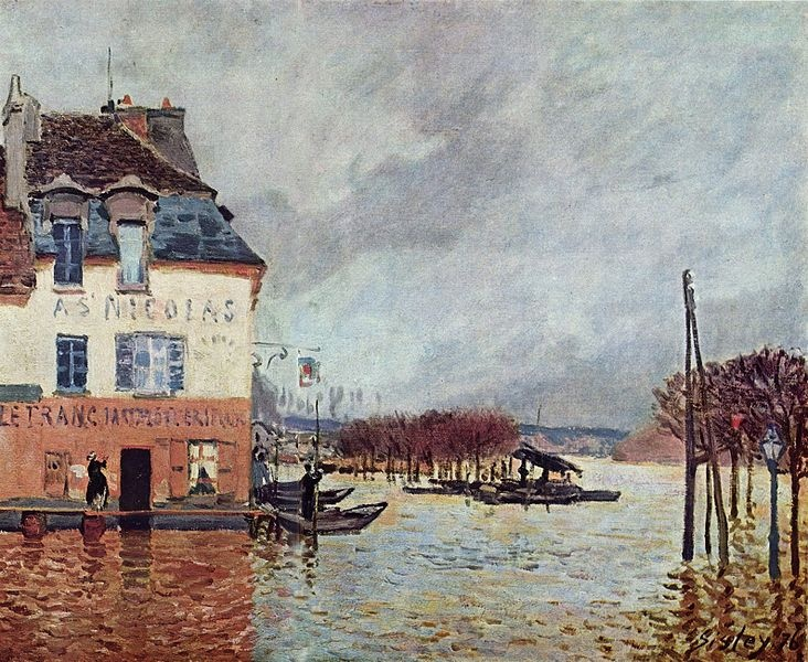 Alfred sisley the flood at port marley masterpieces of - Point p port marly ...