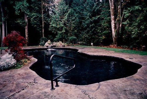 Black Pool Liner Love Elegant Darkness Pinterest