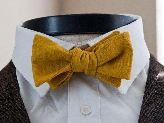 Cool linen bowtie