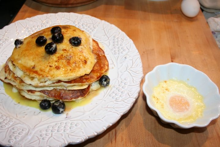 Ricotta Hotcakes with Orange Maple Butter Recipe