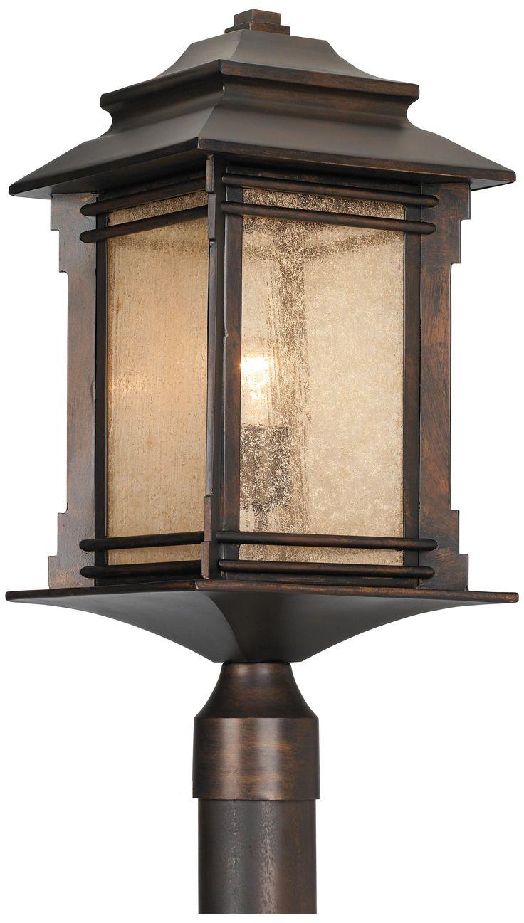 franklin iron works hickory point outdoor post light. Black Bedroom Furniture Sets. Home Design Ideas