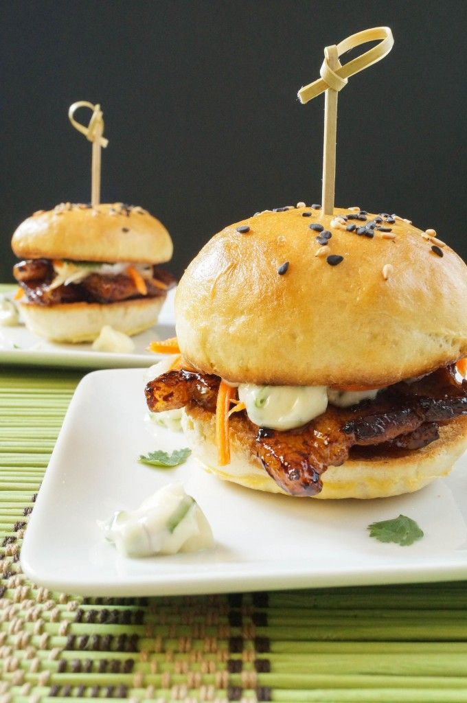 Pork Belly Sliders with Pickled Carrots Daikon and Green Onion Garlic ...