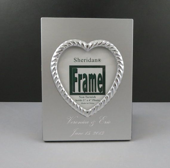 Personalised Wedding Gift Heart : Heart Picture Frame-Personalized-Wedding Gift-Anniversary Gift-Womens ...