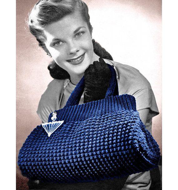 Vintage Crochet Pattern 1940s