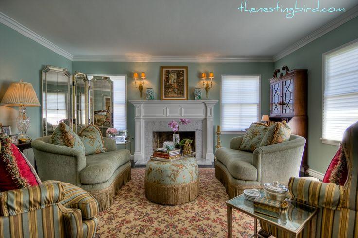 Teal Gold Living Room Pinterest