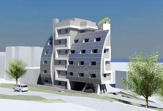 Geotectura designs sunsail solar powered residential building for