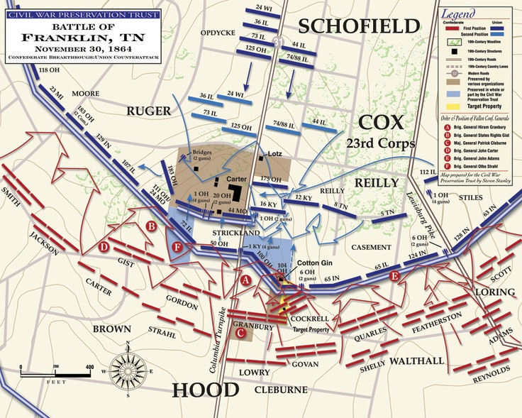 Franklin Tennessee Battle Map  DestinationFranklin