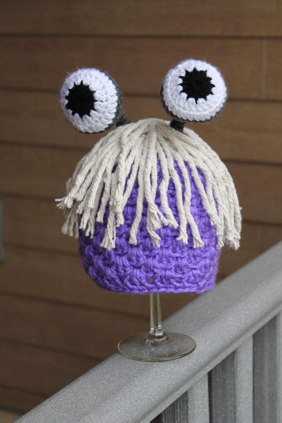 Boo Hat Monsters Inc. by ThatGirlsCrafts on Etsy, $25.00