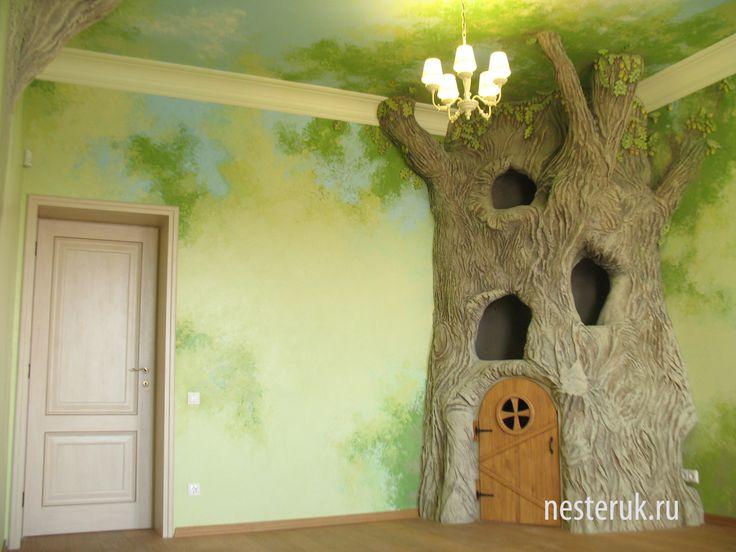Дерево в интерьере своими руками