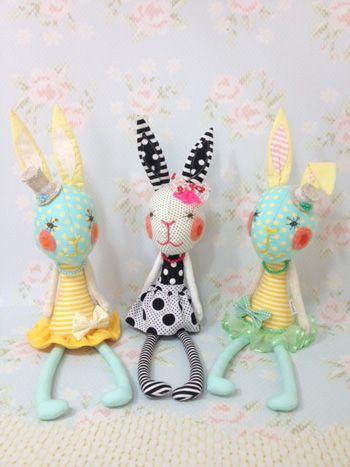 :: 人形創作ユニット-ブルーノ*ブルーノカフェ* :: Rabbit toys