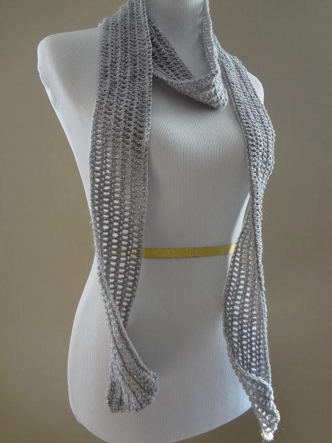 ..Silver Dollar Skinny Scarf! Crochet Pinterest