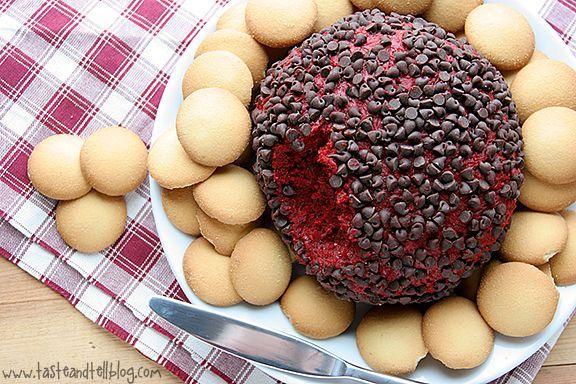 red velvet cream cheese ball. ridiculous.