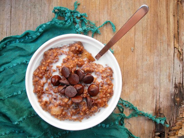 salted chocolate pear oats | Breakfast | Pinterest