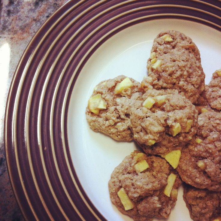 Apple Cinnamon Oatmeal Cookies   Recipe Box   Pinterest