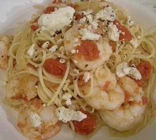 Pasta with Shrimp and Feta | fish and seafood | Pinterest