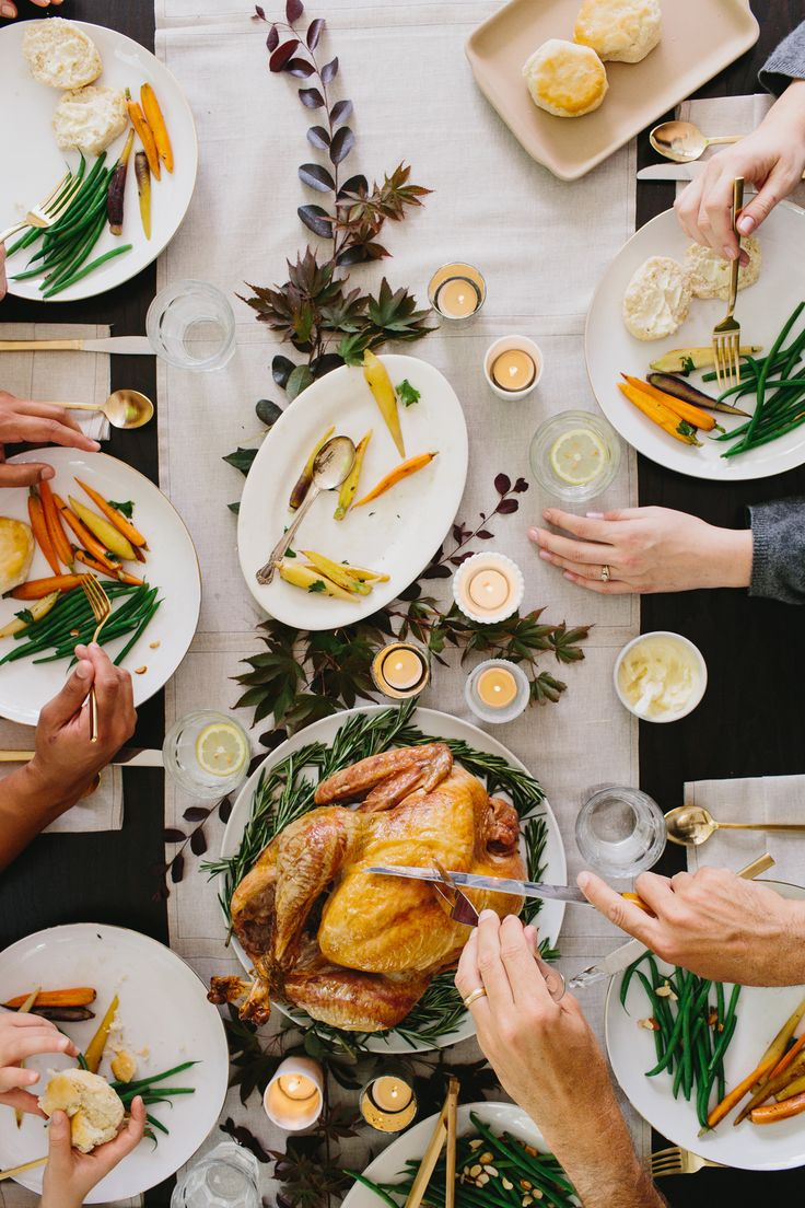 Thanksgiving Dinner Table Setting Pinterest