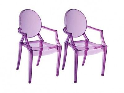 To buy: Baby Anime Transparent Purple Kids Armchairs, $236.91 for a set of two at 55 Downing Street http://www.ivillage.com/work-pantones-2014-color-year-your-home-decor/7-a-555093?cid=tw|12-11-13