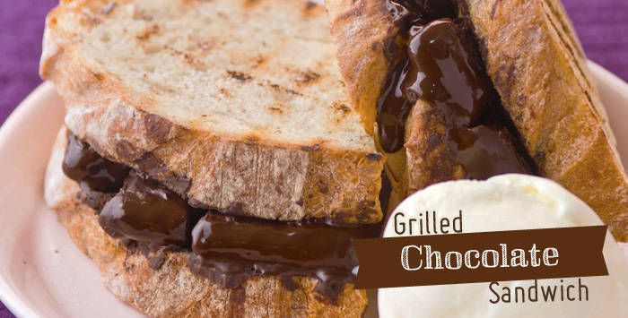 Grilled Chocolate Sandwiches | Food and Drinks | Pinterest