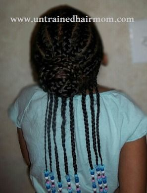 Braids Hairstyles Corn Rows with Beads for Kids