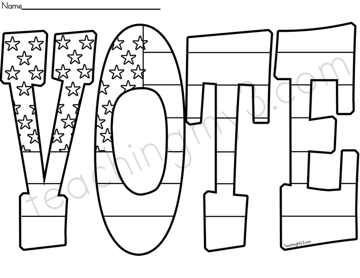 coloring pages election day - photo#2