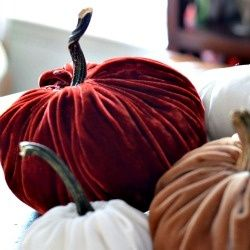 DIY Velvet Pumpkins | Looksi Square