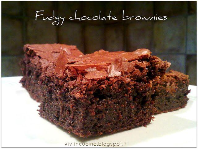 Fudgy chocolate brownies | Brownies | Pinterest