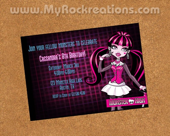 Monster High Party Invitations