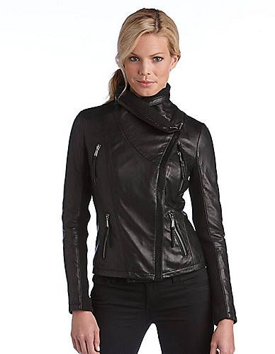 Women's Apparel | Jackets & Vests | Asymmetrical Zip Leather Jacket