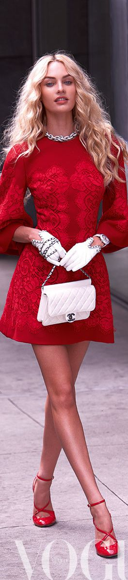 Chanel red heaven fashion