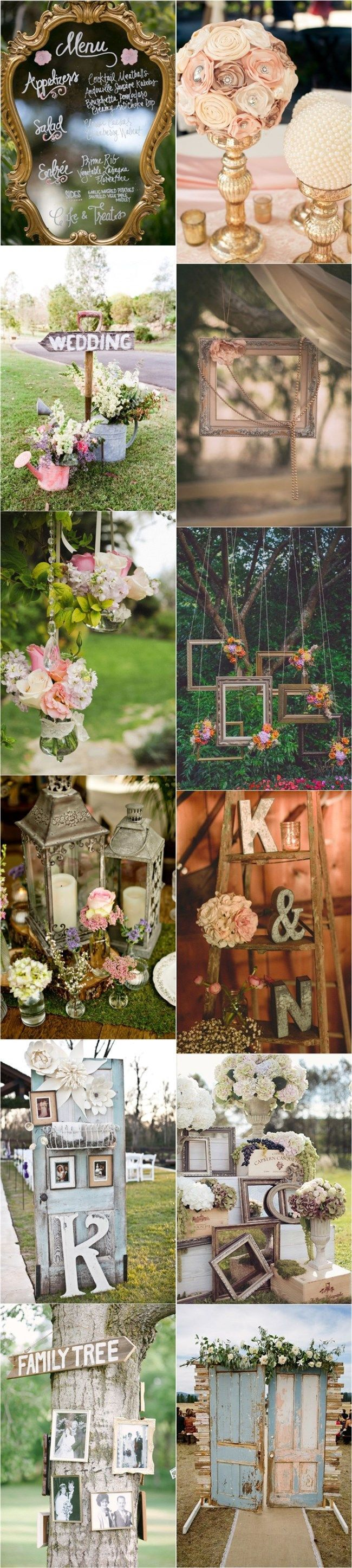 Vintage wedding ideas for decorating pictures