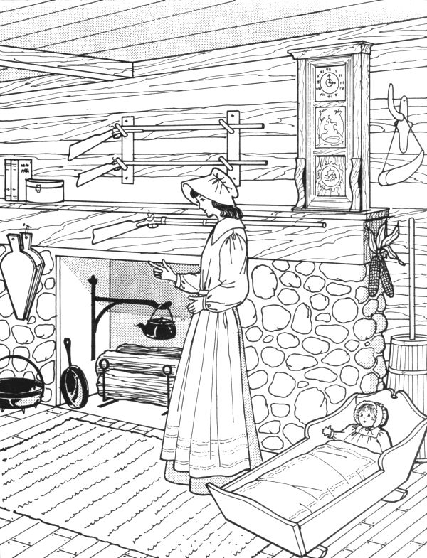 prioneer coloring pages - photo#13