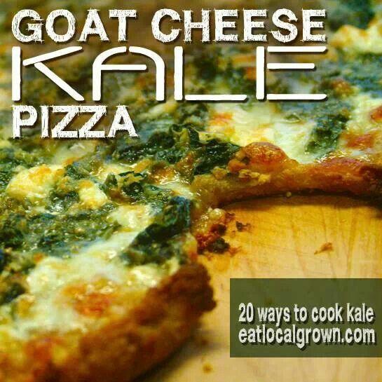 Goat cheese kale pizza   Food Should Taste Good   Pinterest