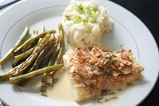 almond crusted halibut | healthy stuff | Pinterest