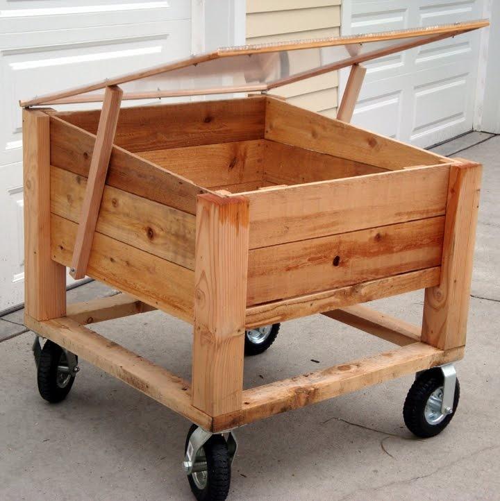 Above Ground Garden Box On Wheels | Garden Ideas | Pinterest