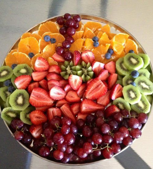 healthy breakfast with fruit fruit salads