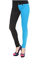 Royal Bones Black And Turquoise Split Leg Skinny Jeans