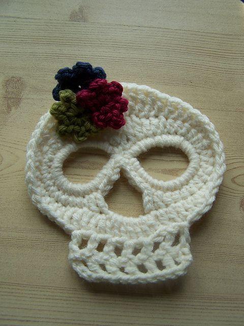 Crochet skull (Halloween baby headband) Knit/Crochet Pinterest