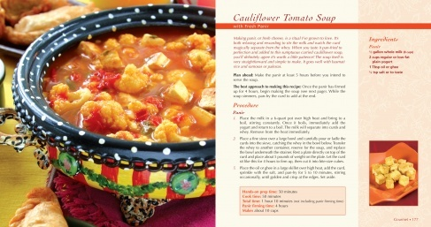 Cauliflower Tomato Soup with Fresh Paneer. Making panir, or fresh ...