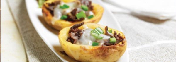 Philly Cheesesteak Potato Skins Recipe — Dishmaps