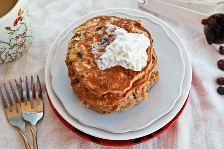 Oatmeal Raisin Cookie Pancakes | Breakfast | Pinterest