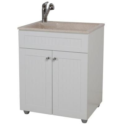 Sink And Washer All In One : ... Bay All-in-One 27 in. ColorPoint Premium Laundry Sink and Cab