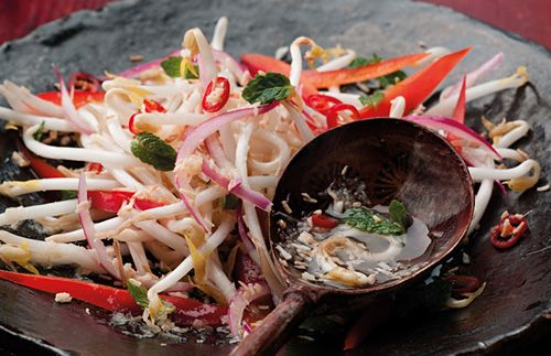 Coconut and Chili Kerabu Salad, RasaMalaysia (red onion, shredded ...