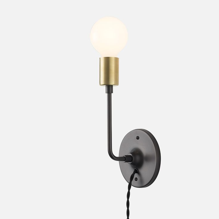 Electric Wall Sconces Plug In : L Plug-In Sconce school house electric illuminations Pinterest