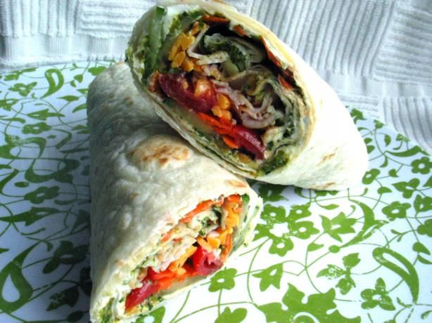 Pat s Creamy Basil Pesto Wraps from Food.com: My friend's father made ...