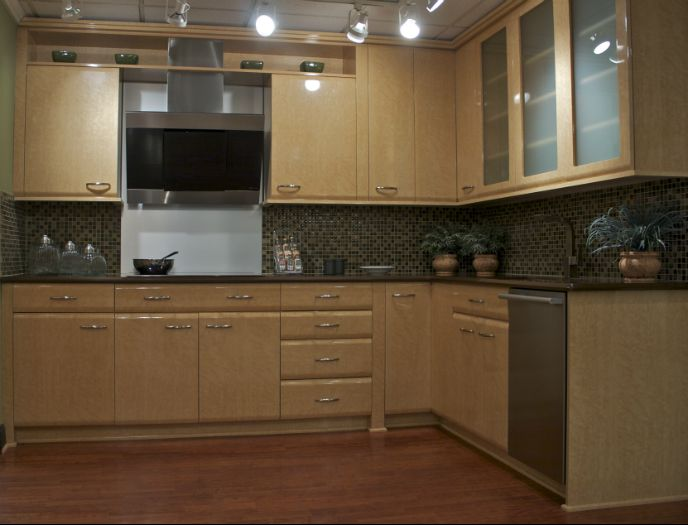 birds eye maple cabinets birdseye maple veneer kitchen