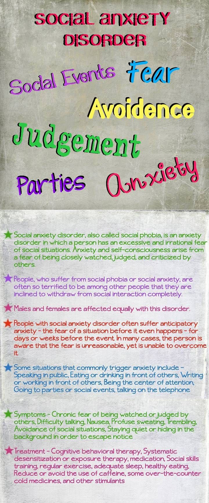 mental health anxiety disorders .