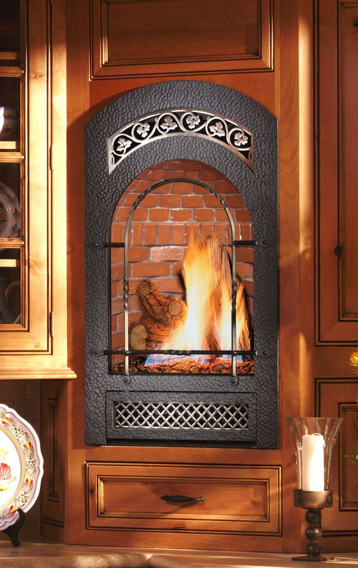 Small wall mounted gas fireplace. Great for bedrooms & baths. B&B ...