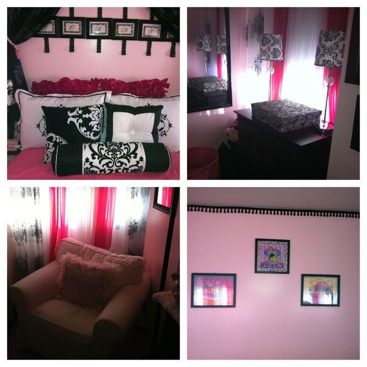 Pink Black White Little Girls Room Bedrooms For Teen Girls Pi